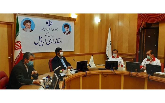 نشست استاندار اردبیل با دبیرکل جمعیت هلال احمر کشور