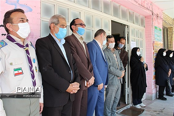 مراسم زنگ بازگشایی مدارس در آموزشگاه  تمام تشکیلاتی دخترانه سبلان ناحیه یک اردبیل