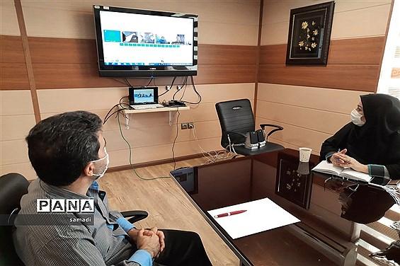 جلسه  ویدئو کنفرانس  مشاوران پایگاههای انتخاب رشته داوطلبان کنکور منطقه 13