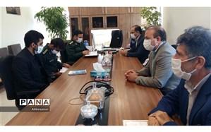 دیدار رییس سازمان دانش آموزی بجنورد با فرمانده سپاه ناحیه مقاومت بسیج