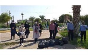 اجرای برنامه های پاکسازی به مناسبت روز جهانی پاک سازی زمین در لالی