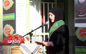 مراسم صبحگاه بزرگداشت چهلمین سالگرد هفته دفاع مقدس در مدارس ابرکوه برگزار شد