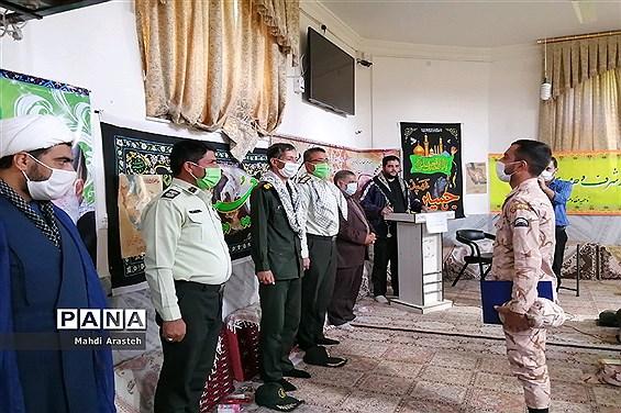 تجلیل از سربازان نمونه ناحیه مقاومت بسیج سپاه و فرماندهی انتظامی شهرستان خوسف