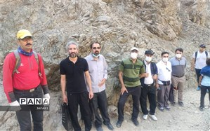 حضور گلشن در اردوی کوهپیمایی کارکنان اداری منطقه چهار