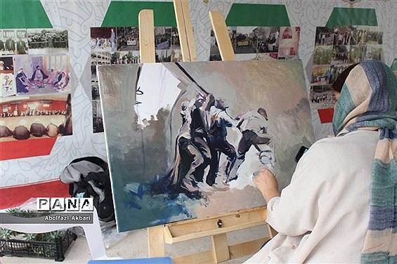 سمپوزیوم ۴۰ نقاش مازندران در باغموزه دفاع مقدس