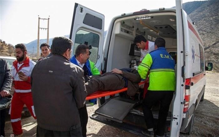 ۲ کشته و ۲۳  مجروح در تصادف در محور زابل - زاهدان