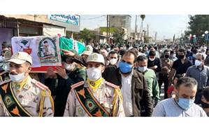 تشییع پیکر شهید مقداد بویر در دهدشت