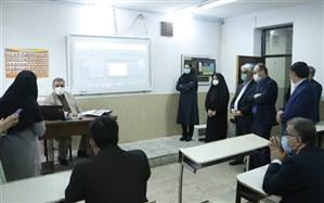 بازدید رئیس سازمان پژوهش از وضعیت مدارس استان گیلان