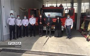 تجلیل سازمان دانش آموزی منطقه چهار از جان بر کفان ایستگاه 17 آتش نشانی