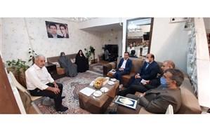 دیدارمدیر سازمان دانش آموزی  گیلان با خانواده شهید حامد امیری