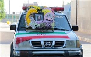پیکر شهیده مدافع سلامت استان بوشهر با کاروان اشک بدرقه شد