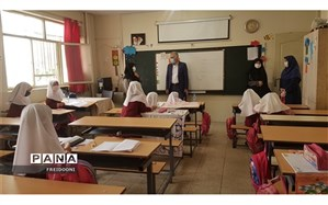 بازدید مدیر آموزش و  پرورش منطقه  چهار  از روند فعالیت های مدارس