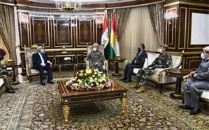 مسعود بارزانی و رئیس سازمان حشد شعبی با محوریت مسائل سیاسی و امنیتی عراق دیدار کردند