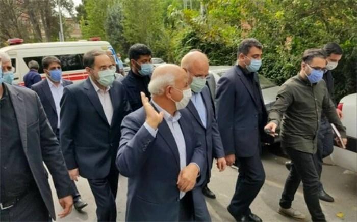 قالیباف سرزده به بیمارستان امام خمینی (ره) رفت