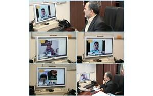 جلسه مجازی شهردار منطقه ۱۳ با شهرداران برتر مدارس