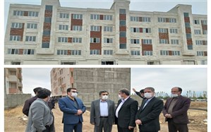 بازدید معاون پشتیبانی و هماهنگی استان های بنیاد مسکن از پروژه های مسکن شهری زنجان