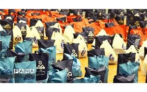 توزیع ۵۵۰ بسته معیشتی بین سالمندان نیازمند و بیمار کمیته امداد خراسان شمالی