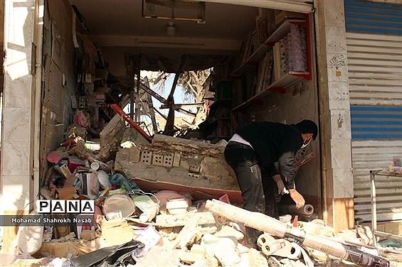 انفجار خانه مسکونی سه واحدی در محله عامری اهواز