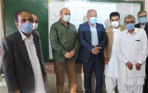 بازدید رئیس مجلس شورای اسلامی از دبیرستان شهید مطهری سراوان