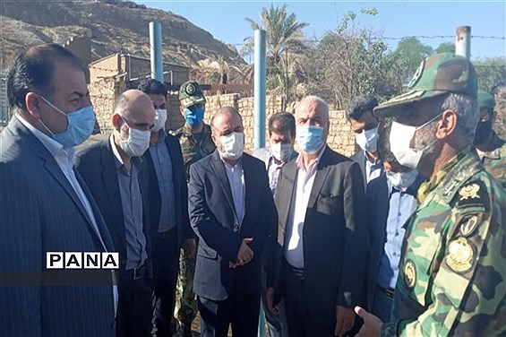 حضور هیات اعزامی وزارت دفاع در شهرستان مسجدسلیمان