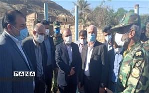 حضور هیئت اعزامی وزارت دفاع در شهرستان مسجدسلیمان