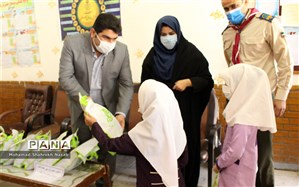 بازدید ریس سازمان دانش آموزی خوزستان از مدارس سوسنگرد