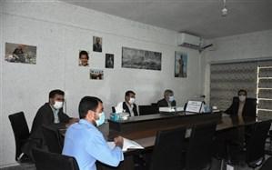 نشست هماهنگی اجرای طرح بسته تحولی سازمان دانش آموزی در آموزش و پرورش دیواندره برگزار شد