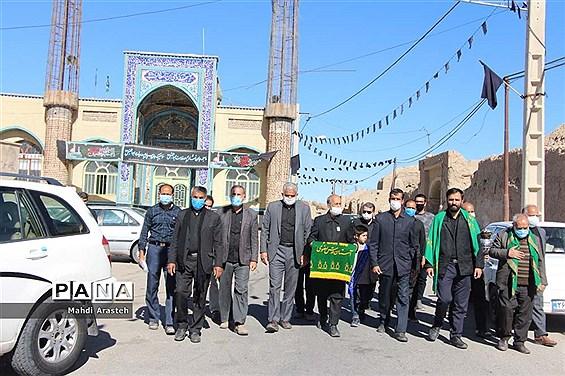 مراسم عزاداری شهادت امام هشتم  مسلمانان در محله جومیان استان خراسان جنوبی