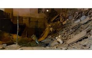 ریزش ساختمان در مجاورت زمین گودبرداری شده