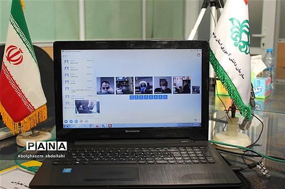 جلسه ویدئو کنفرانس رابطین ارزیابی بسته تحولی سازمان دانش آموزی سراسر کشور با سازمان مرکز
