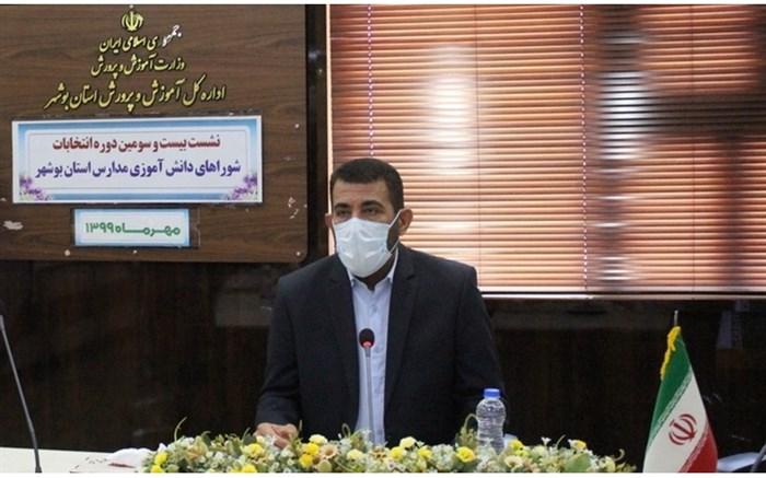 جلسه ستاد برگزاری بیست و سومین دوره انتخابات شوراهای دانش آموزی مدارس استان بوشهر برگزار شد