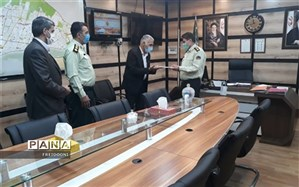 دیدار مدیر آموزش و پرورش منطقه چهار با پرسنل نیروی انتظامی