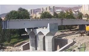احداث عرشه میانی پل همسان در روزهای آتی