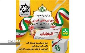 آغاز رقابت بیست و سومین انتخابات شورای دانش آموزی منطقه ۱۲