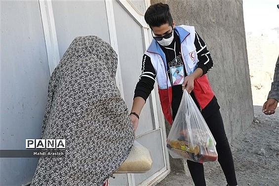 بازدید از اردوی جهادی موج مهربانی و هلال احمر بیرجنددر مناطق محروم شهرستان خوسف