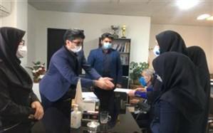 تقدیر از روشندلان  موفق به مناسبت روز جهانی عصای سفید در شهرستان ملارد