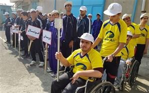 رقابت های مسیر پارالمپیک درمدارس مجازی با نیازهای ویژه کردستان برگزار می شود