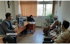 برگزاری جلسه با نماینده حوزه علمیه بقیه الله (عج)  منطقه چهار