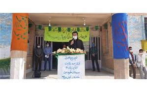 زنگ نمادین آغاز امامت امام زمان عج  در دبیرستان شهید ممبینی شادگان نواخته شد