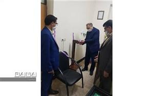 رونمایی از دستگاه ضدعفونی کننده در هنرستان کاردانش شهید فاضل مقدم شهرستان شادگان