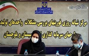 مرکز فوریتهای بررسی مشکلات سرمایهگذاری در زاهدان افتتاح شد