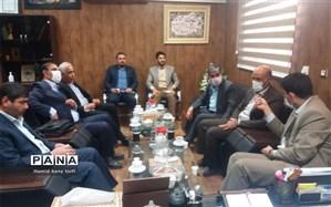 نشست هم اندیشی رییس  آموزش وپرورش شهرستان حمیدیه با حضورمدیرکل فنی وحرفه ای استان خوزستان