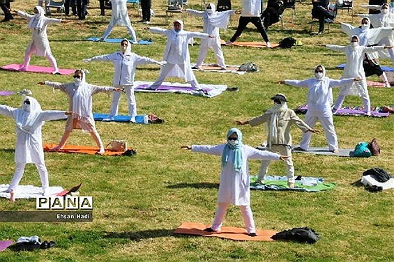 همایش ورزشی یوگا در مشهد