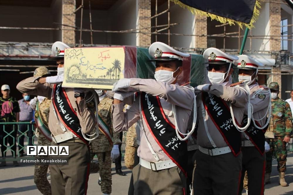 تشییع و خاکسپاری شهید راستگو در ساری