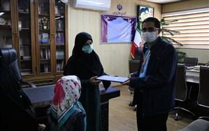 تجلیل سرپرست آموزش و پرورش آذربایجان غربی از نفر سوم المپیاد جغرافیای کشور