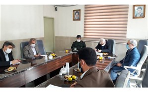 نشست مشترک آمو زش و پرورش ورامین و سپاه ناحیه مقاومت به منظور هماهنگی برنامههای ۱۳ آبان