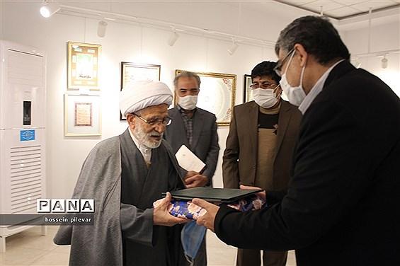 افتتاحیه نمایشگاه آثار خوشنویسی در بیرجند