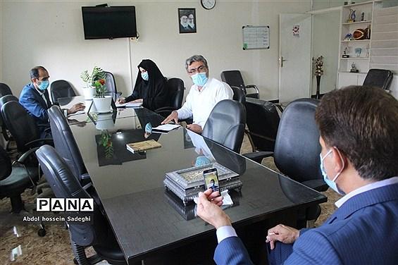 جلسه ویدئوکنفرانس معاونت تربیت بدنی و سلامت ادارهکل آموزش و پرورش استان بوشهر