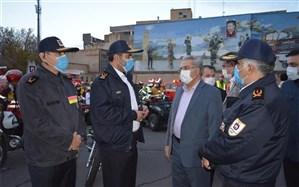 قدردانی از تلاش شهرداری و آتشنشانی در عملیات گندزدایی معابر