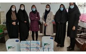 اهدای ماسک و مواد ضد عفونی کننده به دانشآموزان محروم به همت خیرین شورای بانوان اردبیل